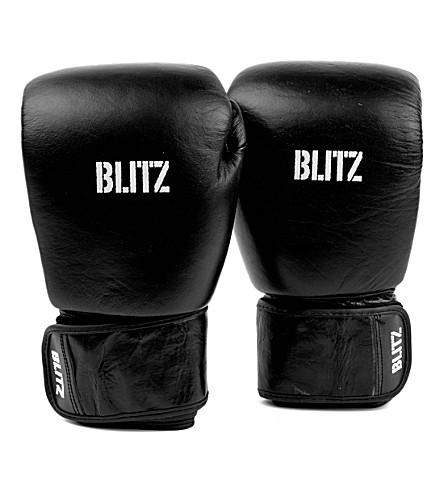 BLITZ Standard leather boxing gloves (Black