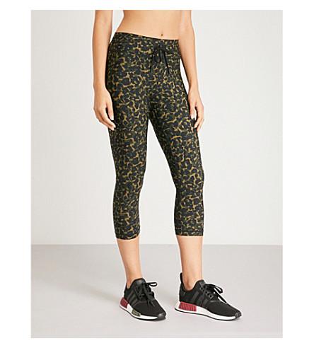 THE UPSIDE纽约市豹迷彩-打印伸展-球衣紧身裤 (豹 + 迷彩