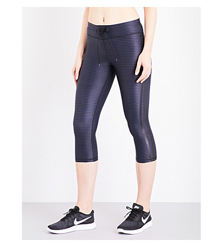 THE UPSIDE Stripe NYC stretch-jersey leggings (Night+stripe
