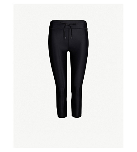 THE UPSIDE NYC cropped stretch-jersey leggings (Black