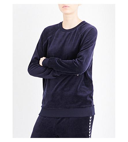 THE UPSIDE Merle velour sweatshirt (Indigo