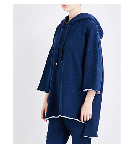 THE UPSIDE Rak Shak cotton-jersey hoody (Indigo+denim