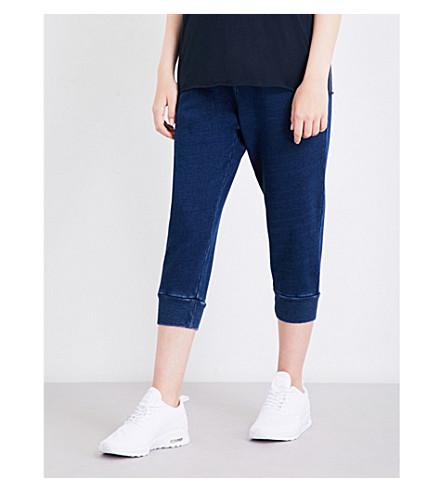 THE UPSIDE Rak Shak cropped cotton-jersey jogging bottoms (Indigo+denim