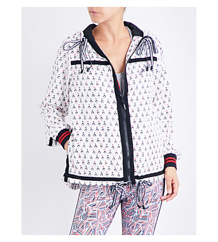 THE UPSIDE Witch mountain ash shell jacket (White/multi