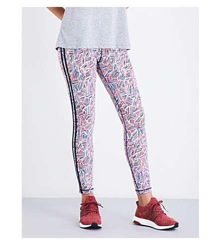THE UPSIDE Fire and Rain stretch-jersey leggings (White/multi