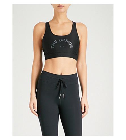 THE UPSIDE Sandia Compression Anna stretch-jersey cropped top (Black