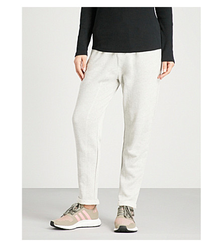 THE UPSIDE Rodeo dropped-crotch mid-rise cotton-jersey jogging bottoms (Grey+marle
