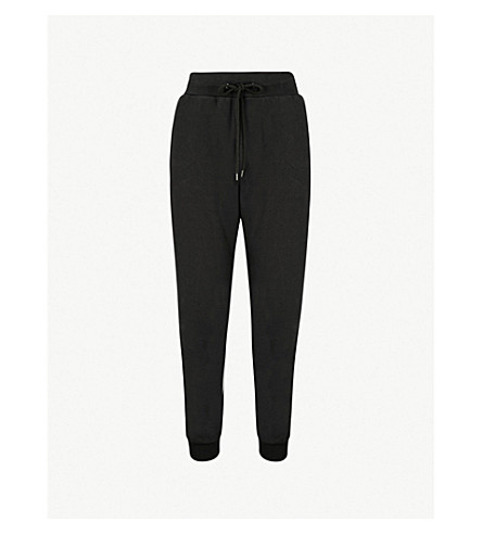 THE UPSIDE Sid Arrow cotton-jersey jogging bottoms (Black