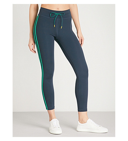 THE UPSIDE Colourblock stretch-jersey leggings (Indigo/green