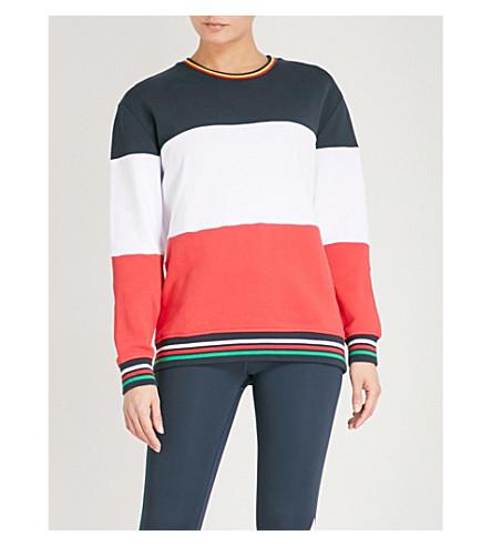 THE UPSIDE Colourblock cotton-jersey sweatshirt (Indigo/multi