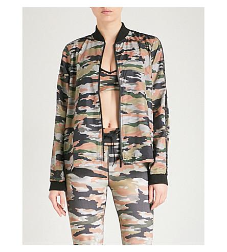 THE UPSIDE Striped Camo Ash shell jacket (Khaki camo