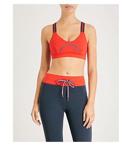 THE UPSIDE Matte Dance stretch-jersey sports bra (Red+indigo