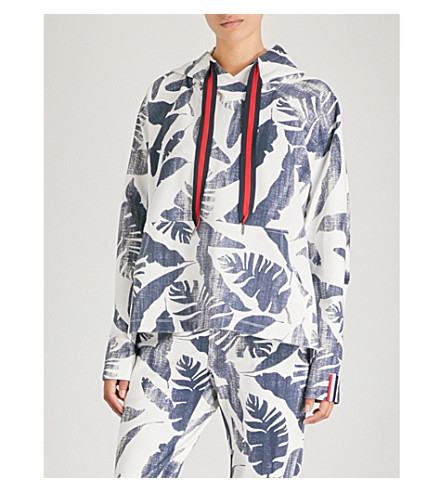 THE UPSIDE Lennox jersey hoody (White+indigo