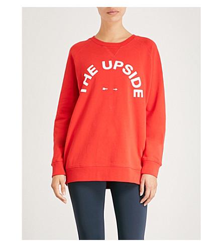 rojo sudadera Sid algodón UPSIDE jersey de THE qSHxFwBnF