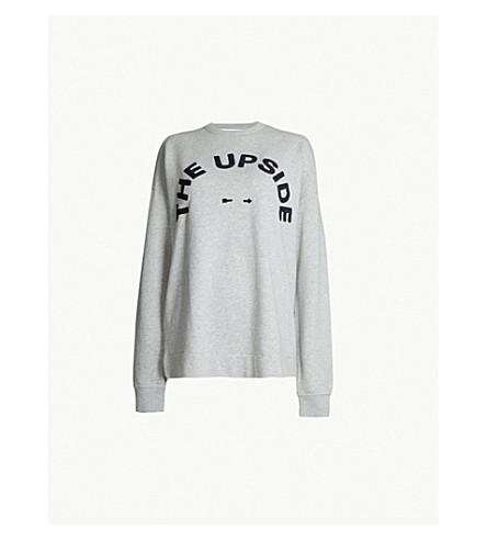 THE UPSIDE Club 55 cotton-fleece sweatshirt (Grey marle