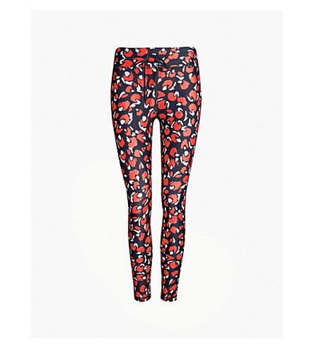 THE UPSIDE Paintbox Midi 3/4 stretch-jersey leggings (Red multi