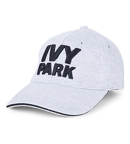 IVY PARK Logo-embroidered cotton-blend cap (Light+grey+marl