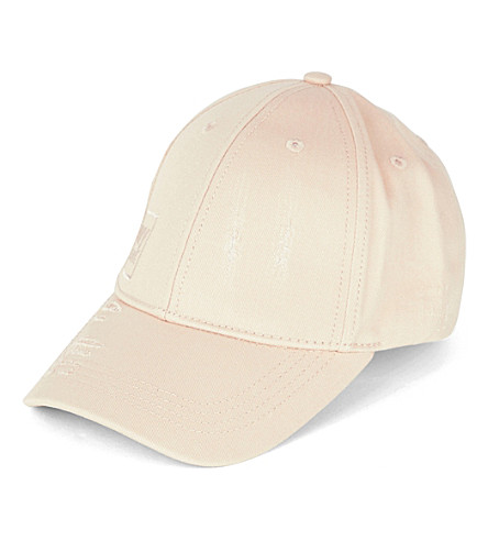 IVY PARK Distressed cotton-twill baseball cap (Washed+blush