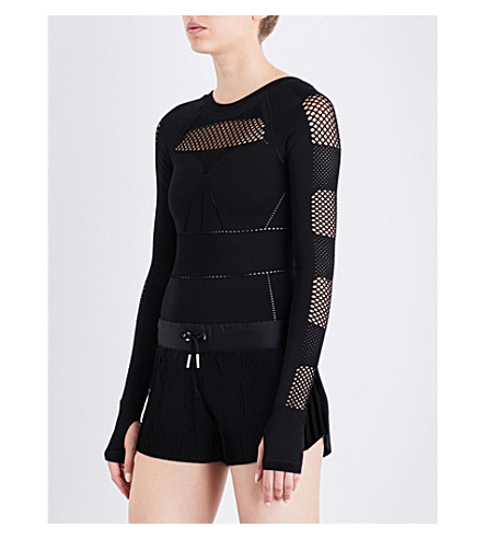 IVY PARK Mesh-panel body (Black
