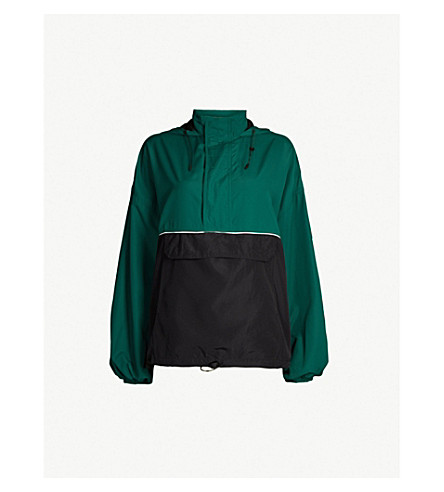 IVY PARK Colour-blocked shell jacket (Forest green
