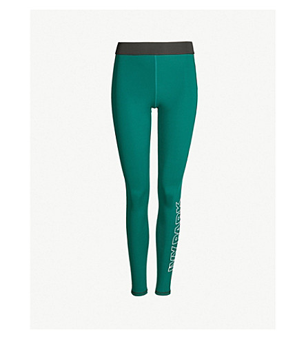 IVY PARK High-rise stretch-jersey leggings (Forest green