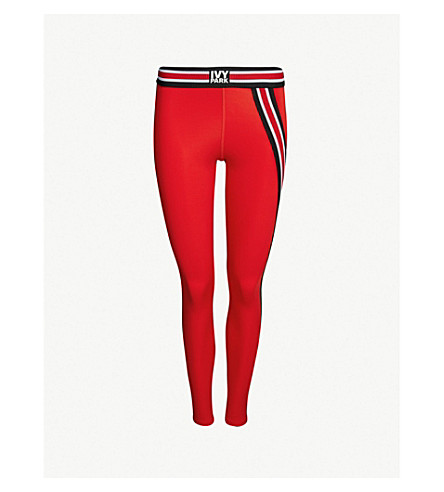 IVY PARK Active asymmetric stretch-jersey leggings (Rose red