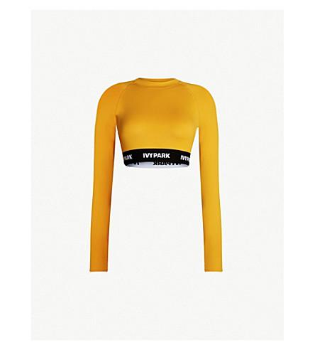 IVY PARK 标志胶带弹力平纹针织短款上衣 (金色橙色