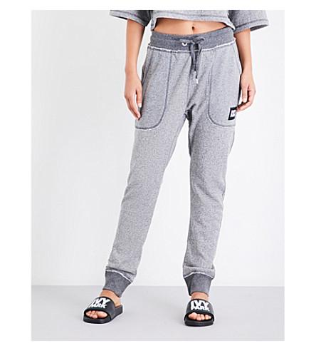 IVY PARK Raw-edge jersey jogging bottoms (Light+grey+marl