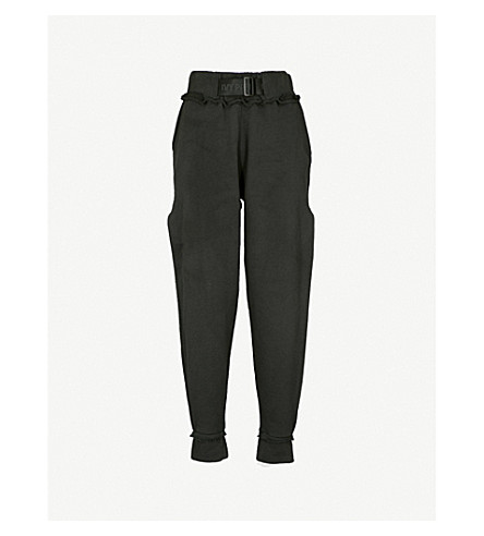 IVY PARK Harness-detail cotton-jersey jogging bottoms (Black