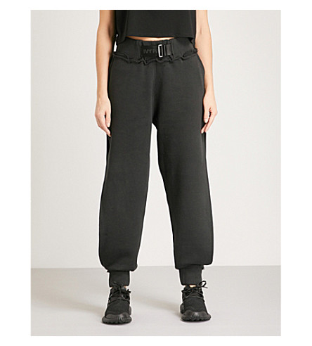 IVY PARK Harness-detail cotton-jersey jogging bottoms (Black