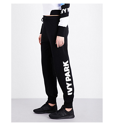 IVY PARK Logo-print jersey jogging bottoms (Black