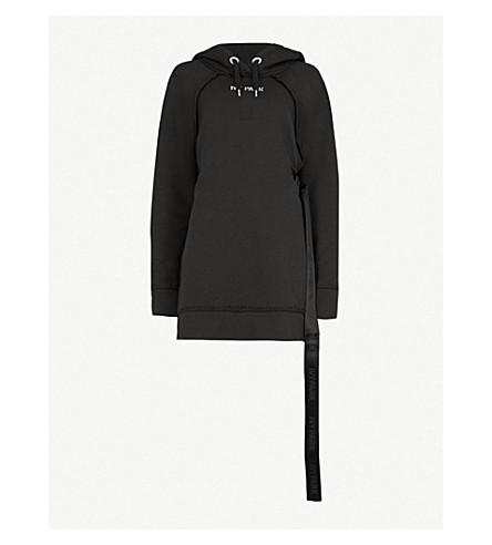IVY PARK 线束详细平纹针织棉帽衫 (黑色