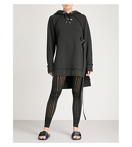 IVY PARK Harness-detail cotton-jersey hoody (Black