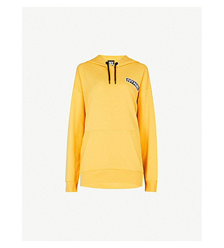 IVY PARK Logo-detail stretch-cotton hoody (Old+gold