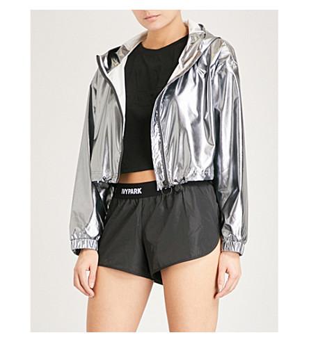 IVY PARK Cropped metallic shell jacket (Metallic