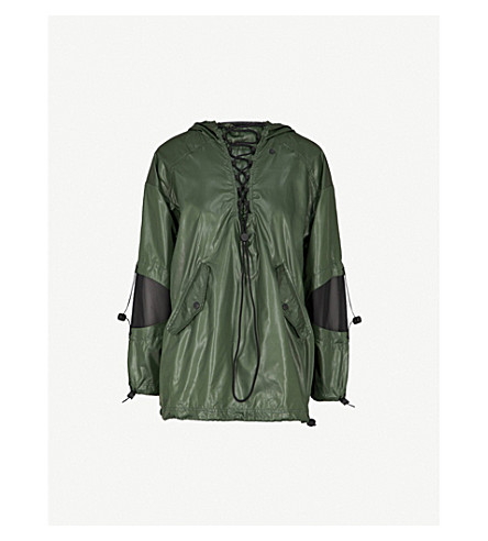IVY PARK Lace-detail shell jacket (Pine