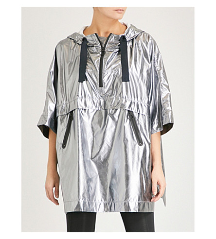 IVY PARK Layered metallic shell poncho (Metallic