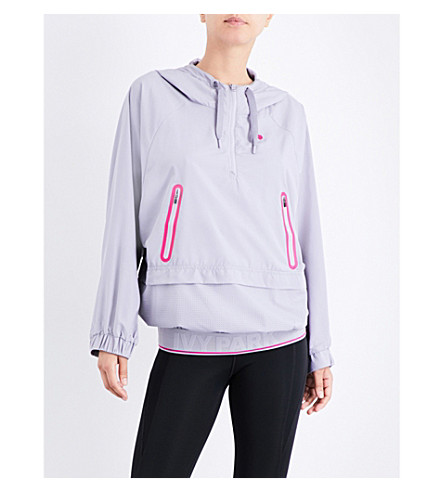 IVY PARK Oversized Hooded shell jacket (Cloud+grey