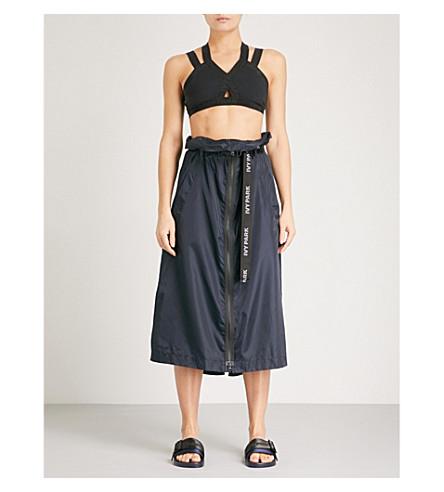 IVY PARK Harness-detail shell midi skirt (Ink