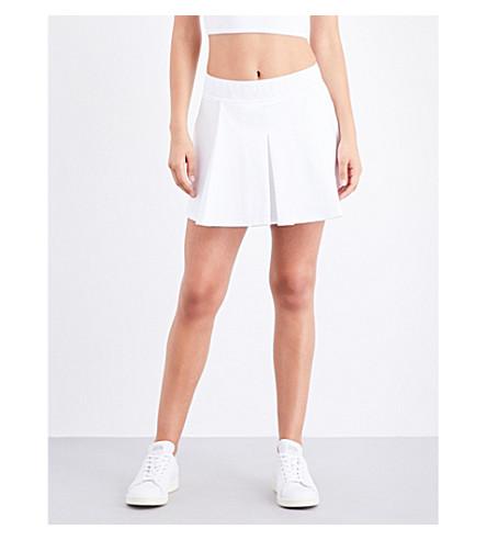 IVY PARK Tennis stretch-jersey skirt (White