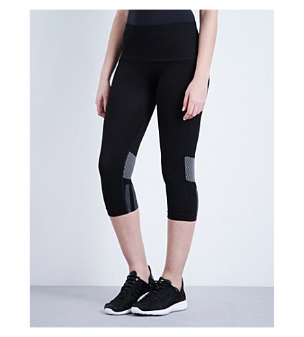 IVY PARK Seamless cropped jersey leggings (Black