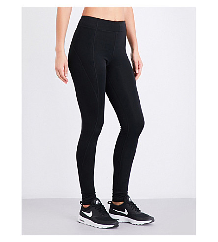 IVY PARK High-rise stretch-jersey leggings (Black