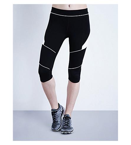 IVY PARK Contrast piping leggings (Black