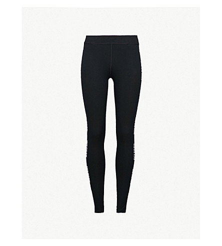 IVY PARK Logo-sides stretch-jersey leggings (Black