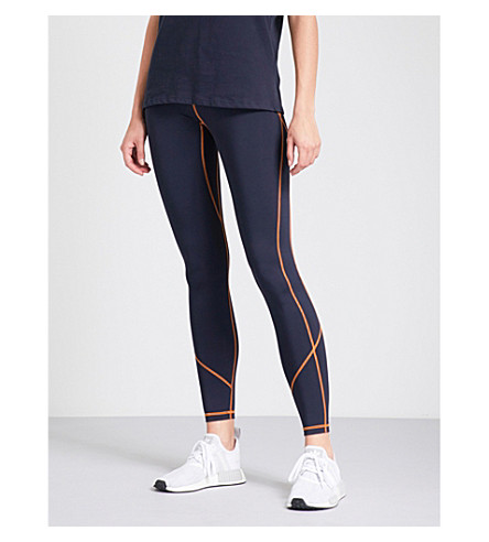 IVY PARK Contrast-stitched stretch-jersey leggings