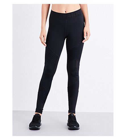 IVY PARK Pintuck stretch-jersey leggings (Black