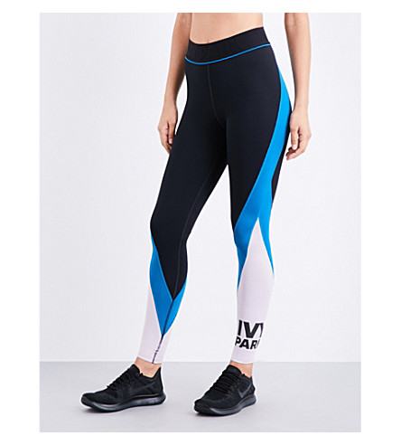 IVY PARK Logo Colourblock stretch-jersey leggings (Multi