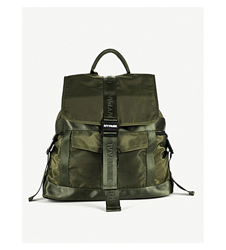 IVY PARK Parachute shell backpack (Pine