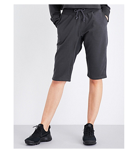 IVY PARK Slouchy fit jersey boy shorts (Washed+black