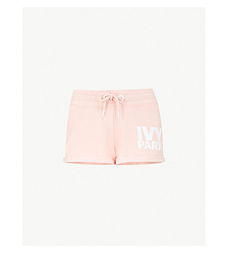IVY PARK Logo-print cotton-blend shorts (Powder+pink